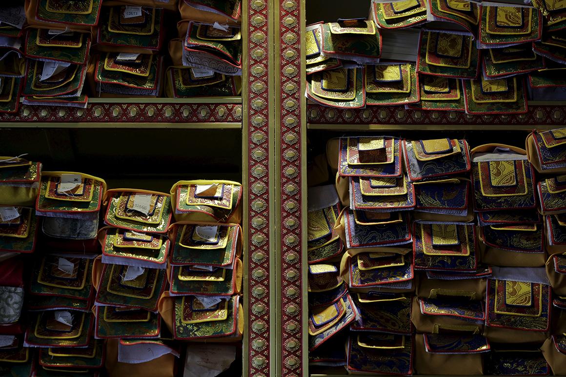 Biblioteca do mosteiro Sera, em Lhasa