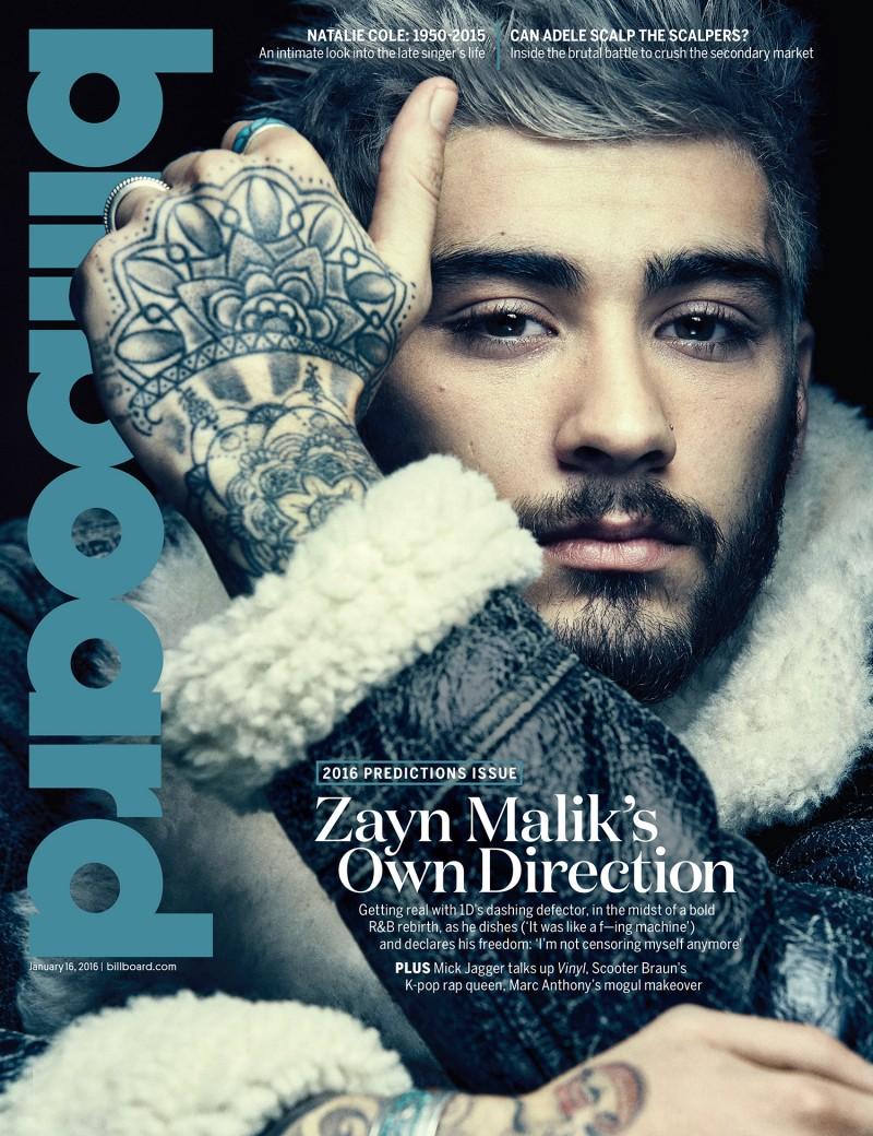 O cantor Zayn Malik na capa da revista Billboard