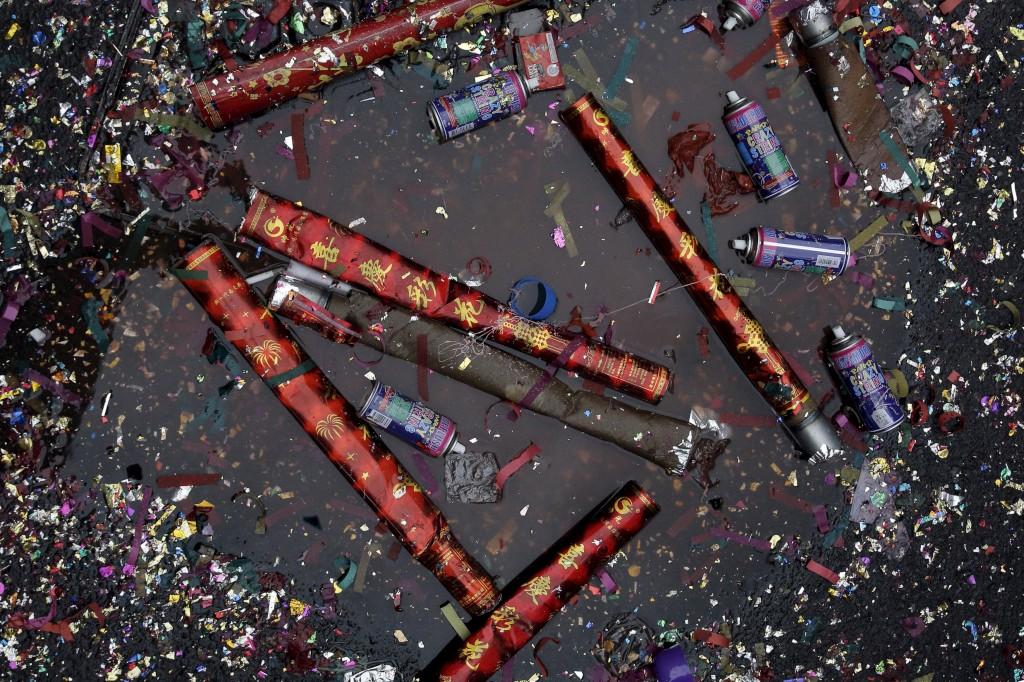 Comemorações do Ano Novo Chinês, Chinatown, Nova Iorque, EUA