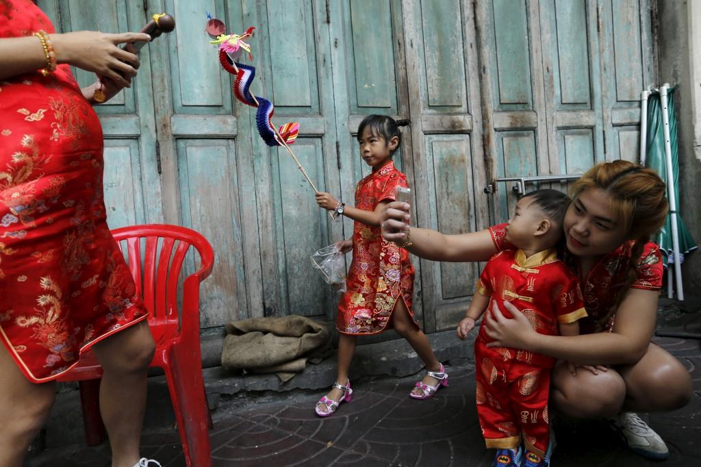 Comemorações do Ano Novo Chinês em Banguecoque, Tailândia