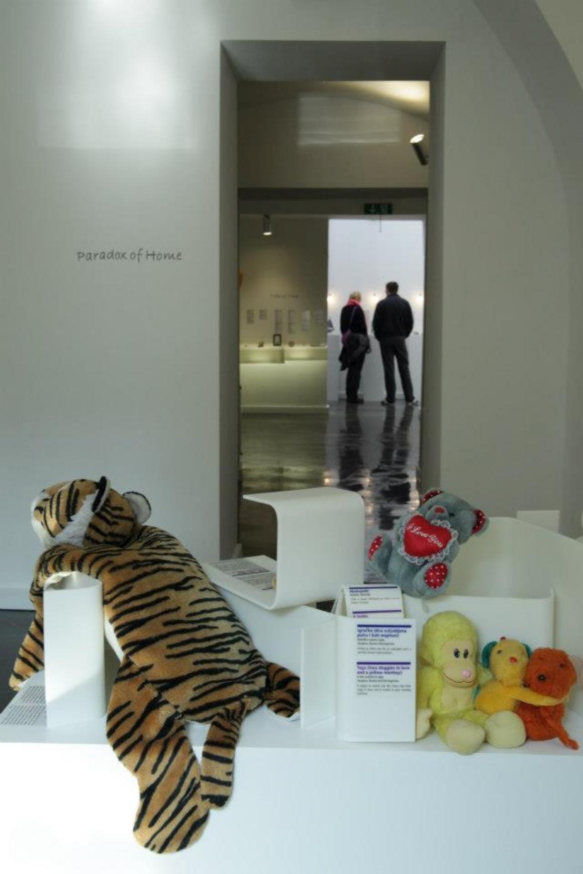 No museu em Zagreb