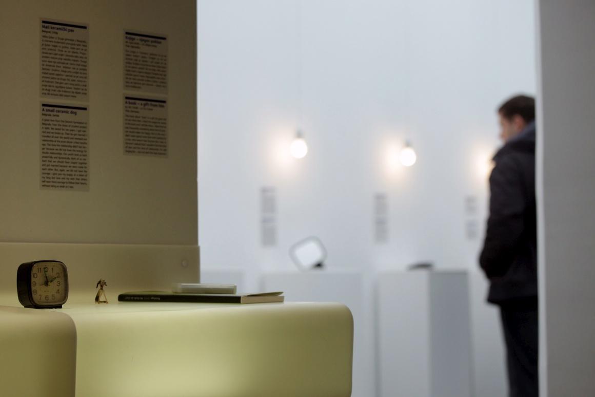 No museu, em Zagreb