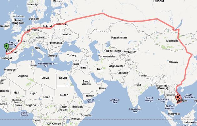 Sim A Mais Longa Viagem Em Comboio Do Mundo Comeca Em
