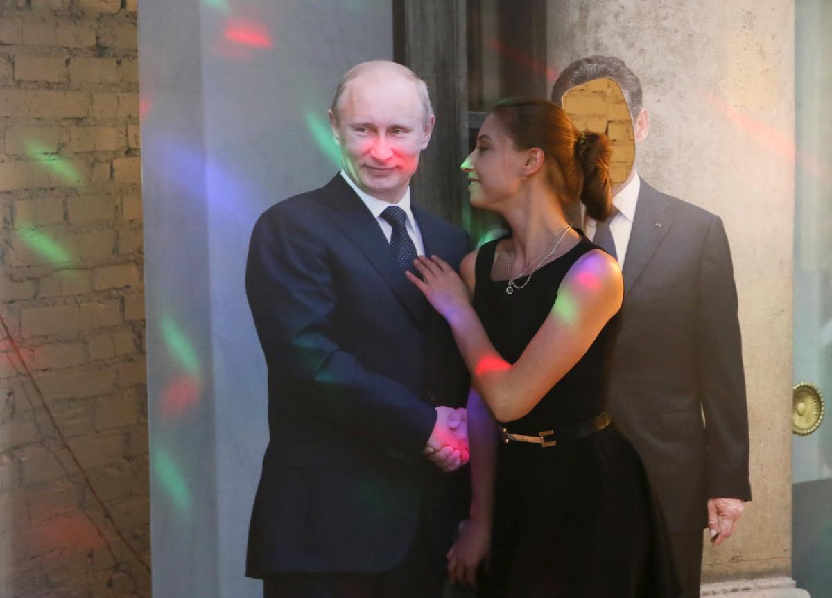 Um restaurante onde Putin está por todo o lado