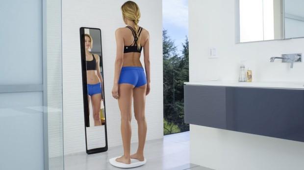 """O espelho """"mágico"""" que revela o seu exercício"""