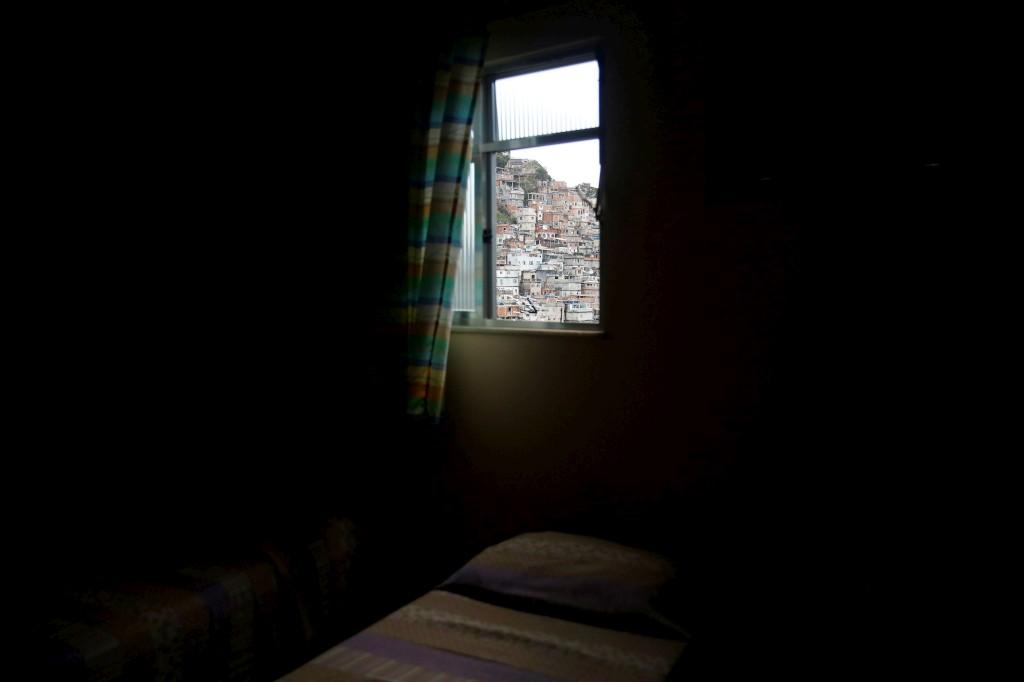 Vista de um quarto da Pousada Favela Cantagalo