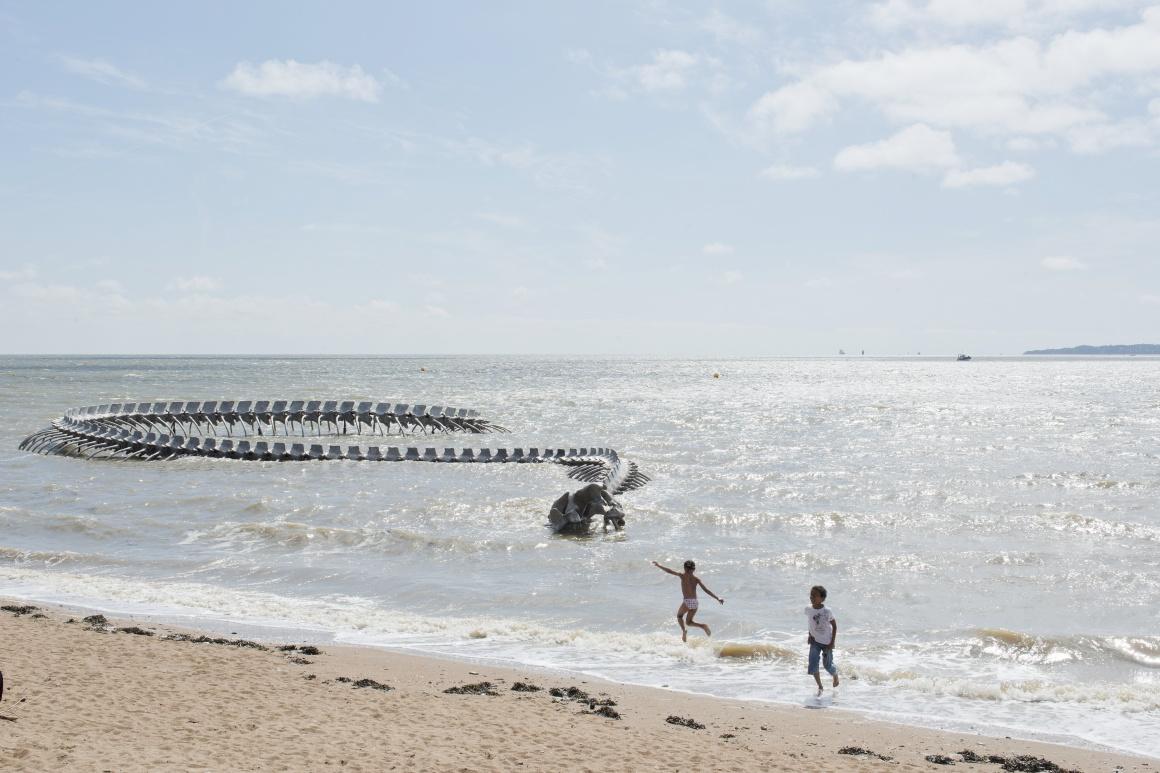 Huang Yong Ping, Serpent d'océan, Saint-Brevin-les-Pins,  Estuaire 2012