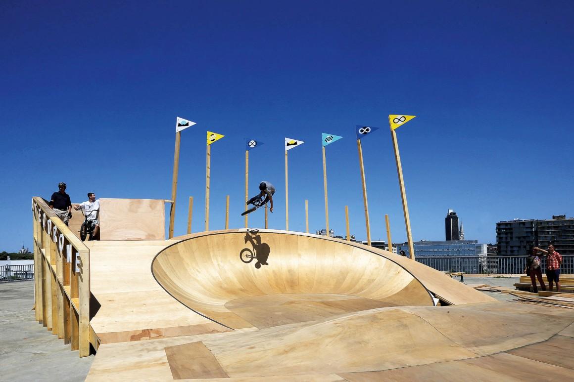 Skate Ô drome (Ensa Nantes), Unity 4 Ride e Fichtre - Voyage à Nantes 2015