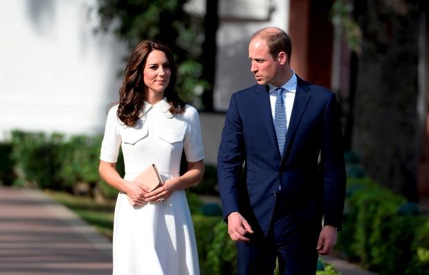Kate Middleton e William durante a sua visita à Índia