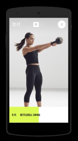 A aplicação proporciona planos de treino personalizados à necessidade e preferência de cada um
