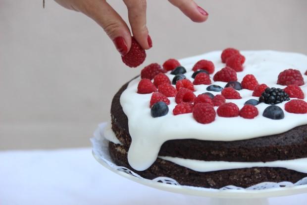 O bolo de chocolate