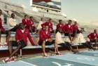 A equipa olímpica cubana com os trajes de Henri Tai e os sapatos de Christian Louboutin