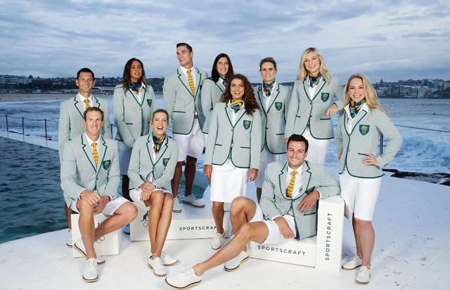 Equipa olímpica australiana, vestida pela marca Sportscraft