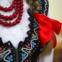 """Polónia - O traje feminino da região de """"Sdeckie"""" foi usado no Sudeste da Polónia"""