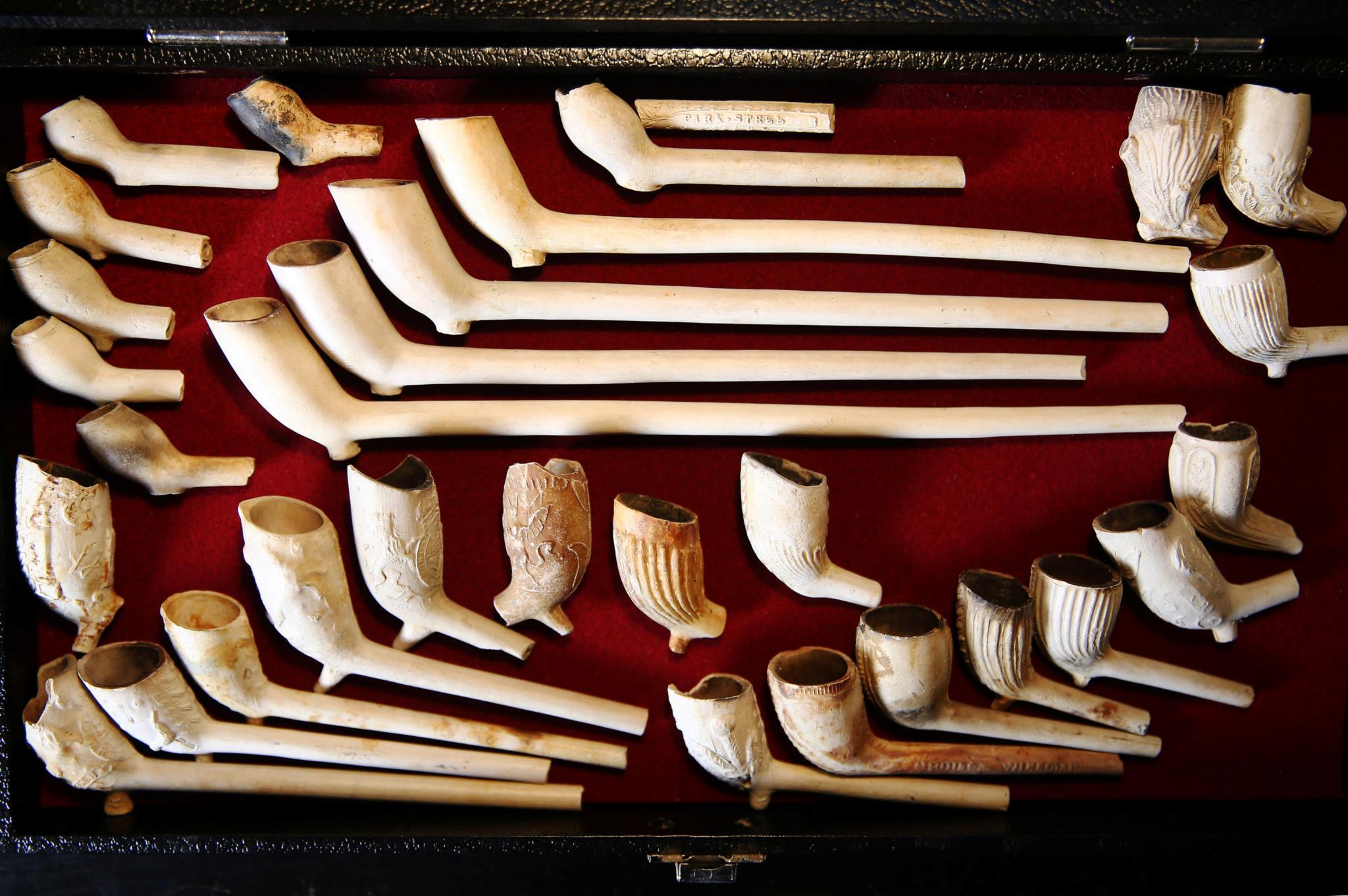 Cachimbos datados de 1580 até 1900