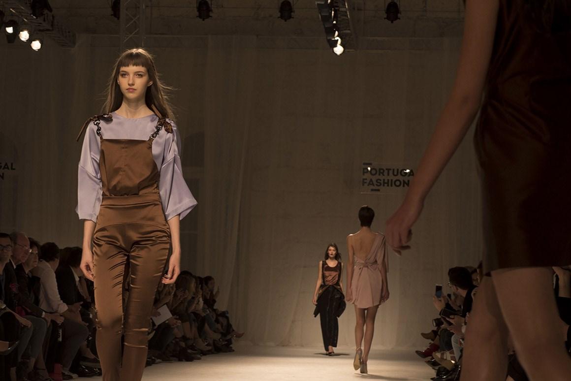 Diogo Miranda e as Demoiselles de Picasso numa noite no Portugal Fashion