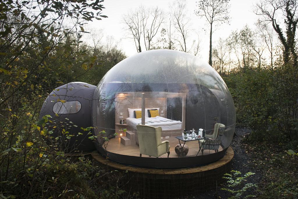 E dormir em globos de vidro?