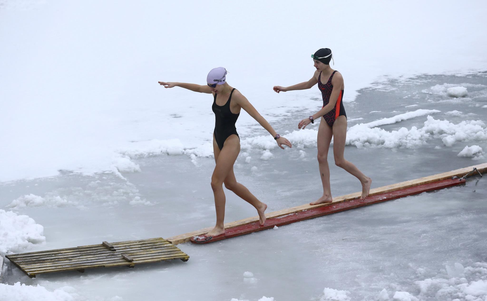 Competição de natação em Minsk, Bielorrússia