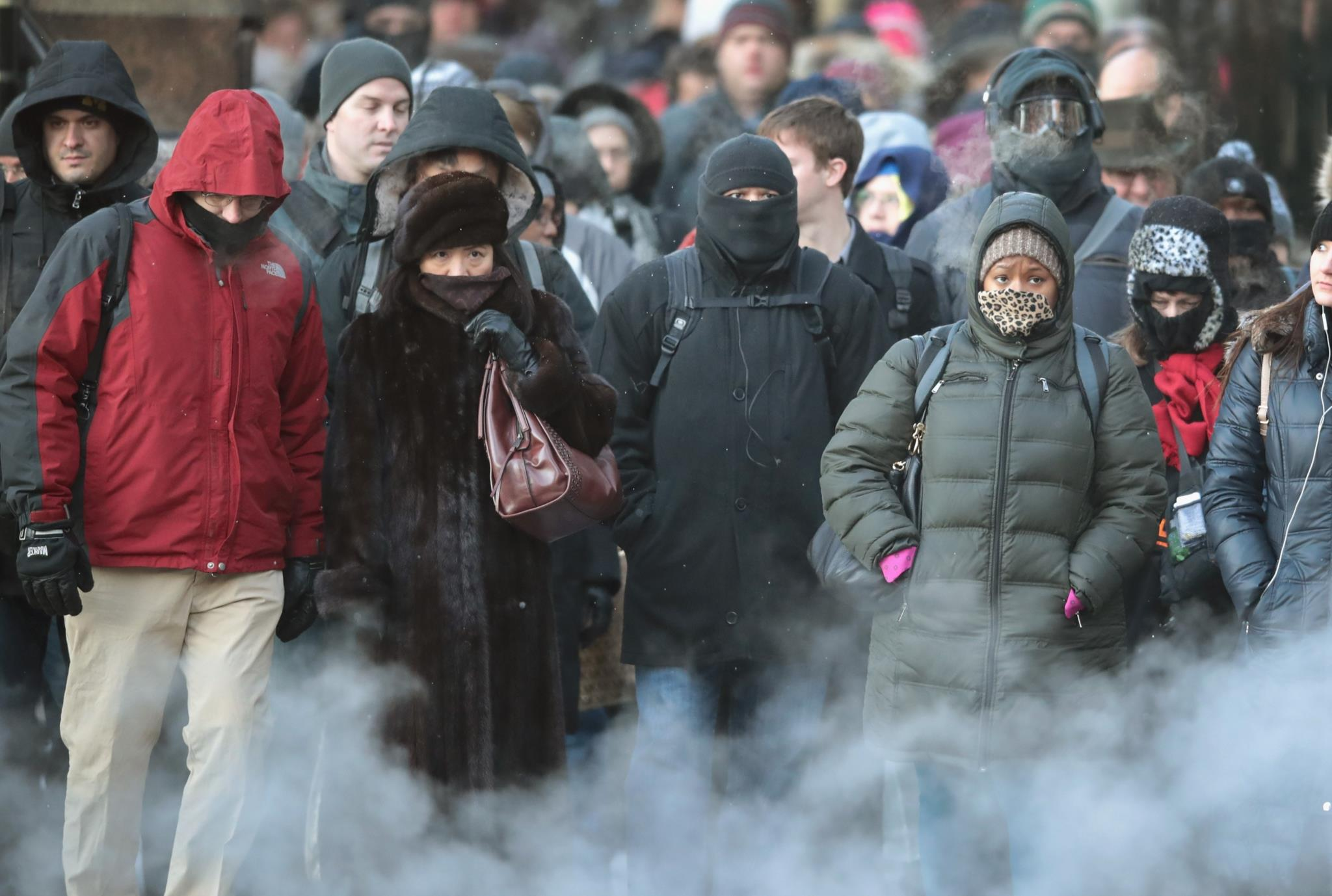 No dia 19 de Dezembro, a temperatura ambiente em Chicago, EUA, atingiu os -13º C