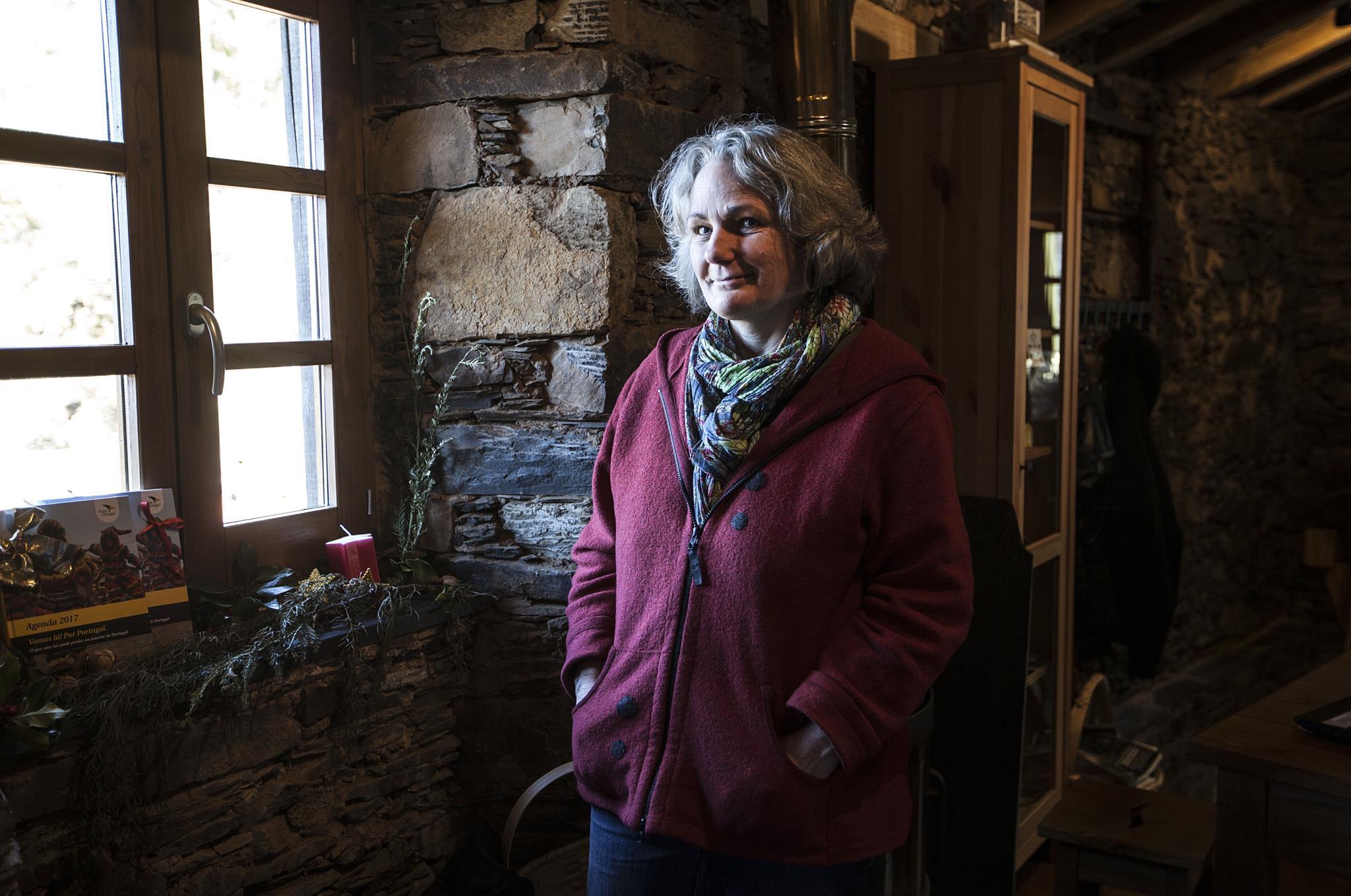 Kerstin Thomas, umas das proprietarias e dinamizadora do centro criativo Cerdeira Village