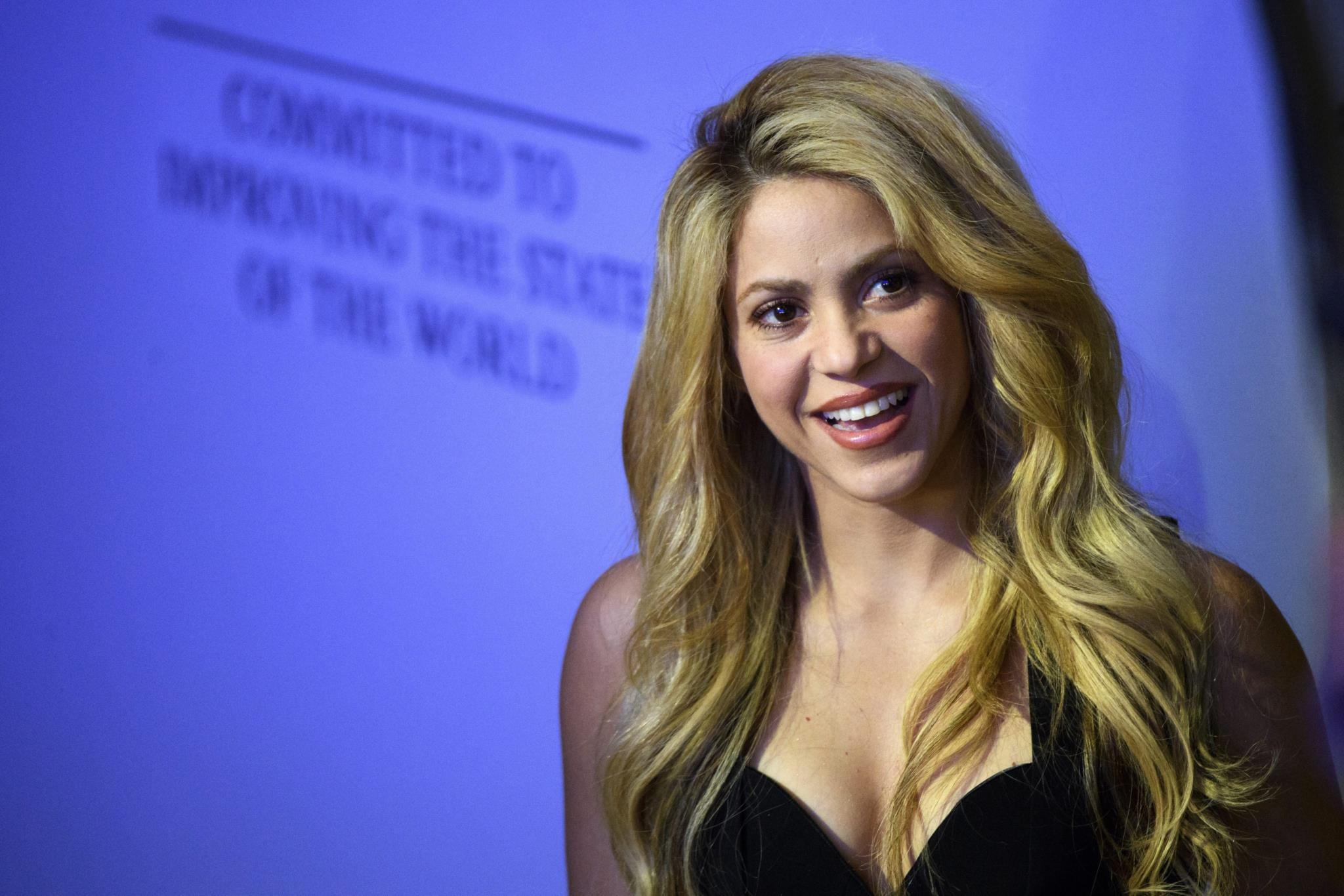 Shakira no Fórum Económico Mundial, nesta segunda-feira