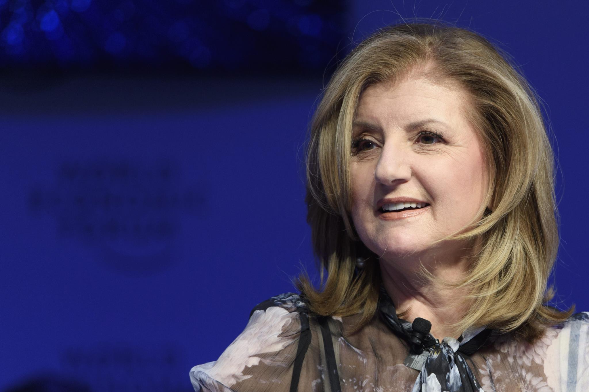 Arianna Huffington no Fórum Económico Mundial em Davos