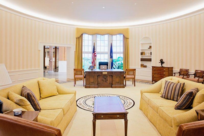 A recepção do GitHub é uma réplica da Sala Oval da Casa Branca. Até tem um tapete com uma espécie de selo com a mascote da empresa