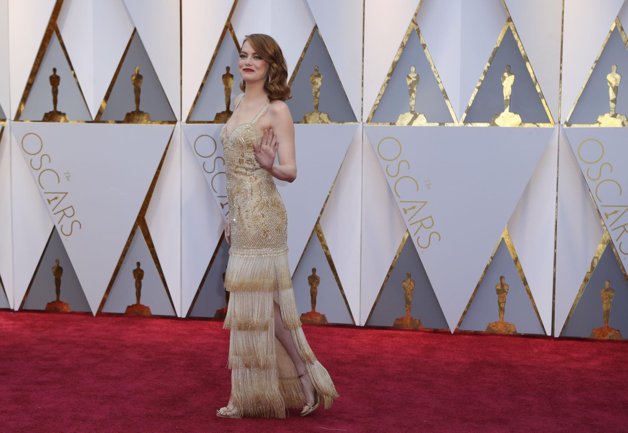 Emma Stone, em Givenchy Haute Couture