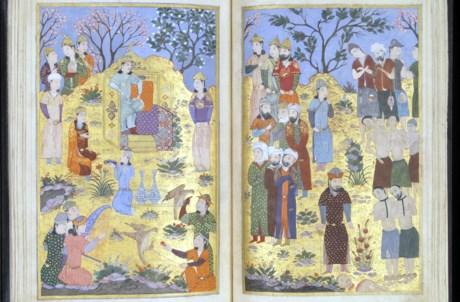 Miniatura da Antologia do Sultão de Iskandar. Pérsia, Chiraz, período timúrida, 1410-1411. Museu Calouste Gulbenkian – Colecção do Fundador