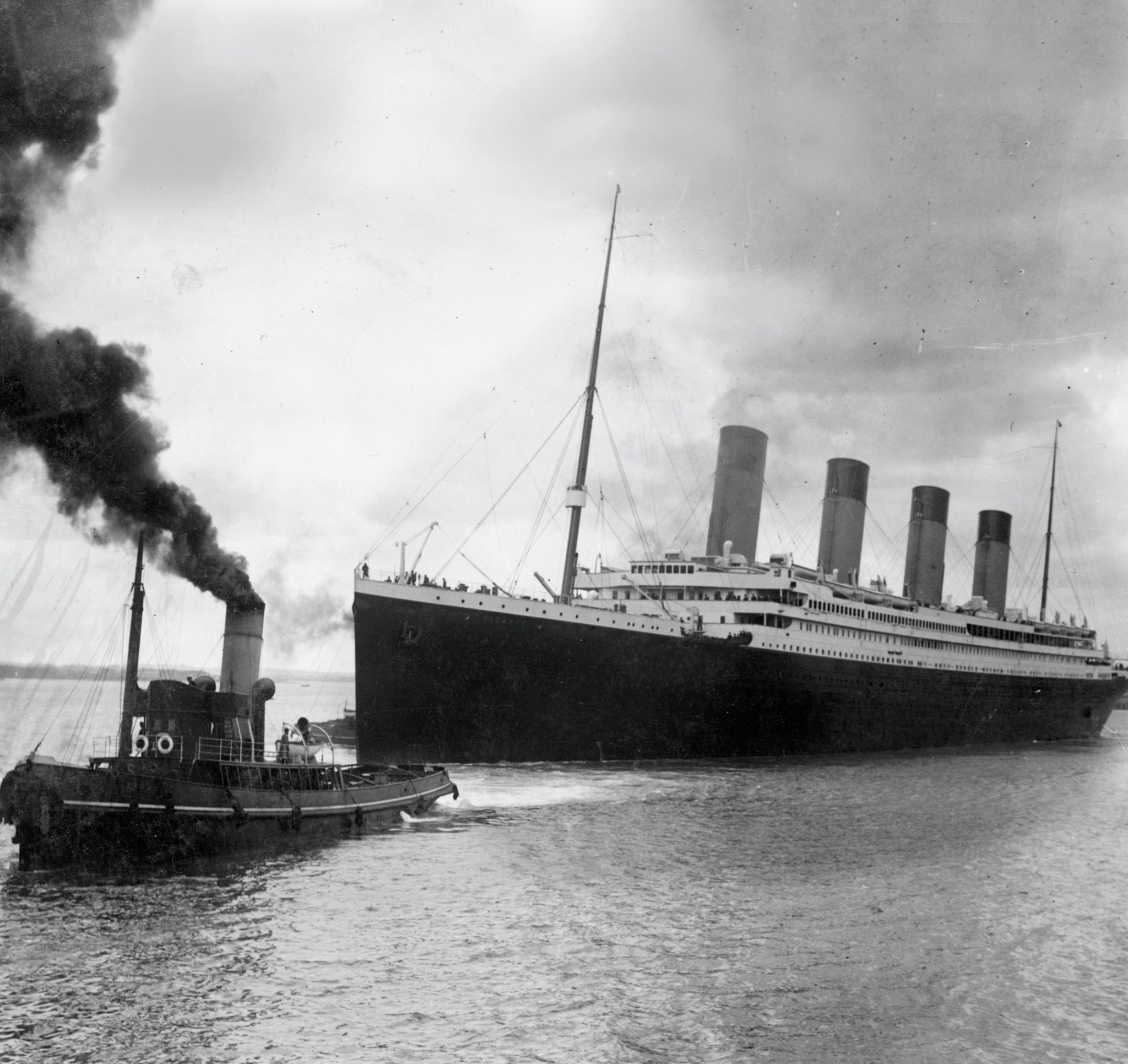 O Titanic antes da partida de Southampton