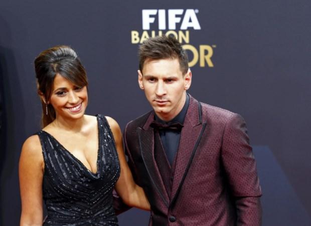 O casal em 2014 na cerimónia da Bola de Ouro
