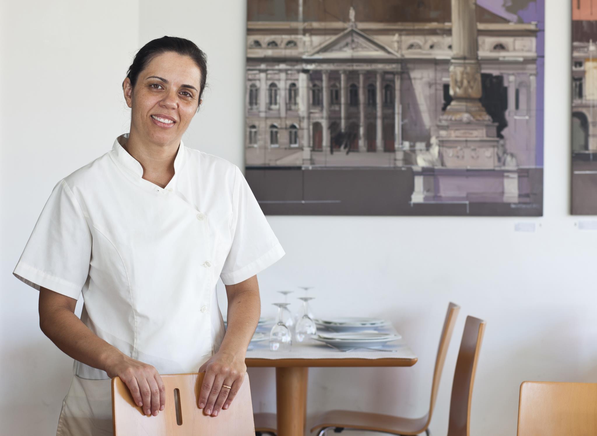 Noélia, chef no restaurante Noélia e Jerónimo, em Cabanas de Tavira