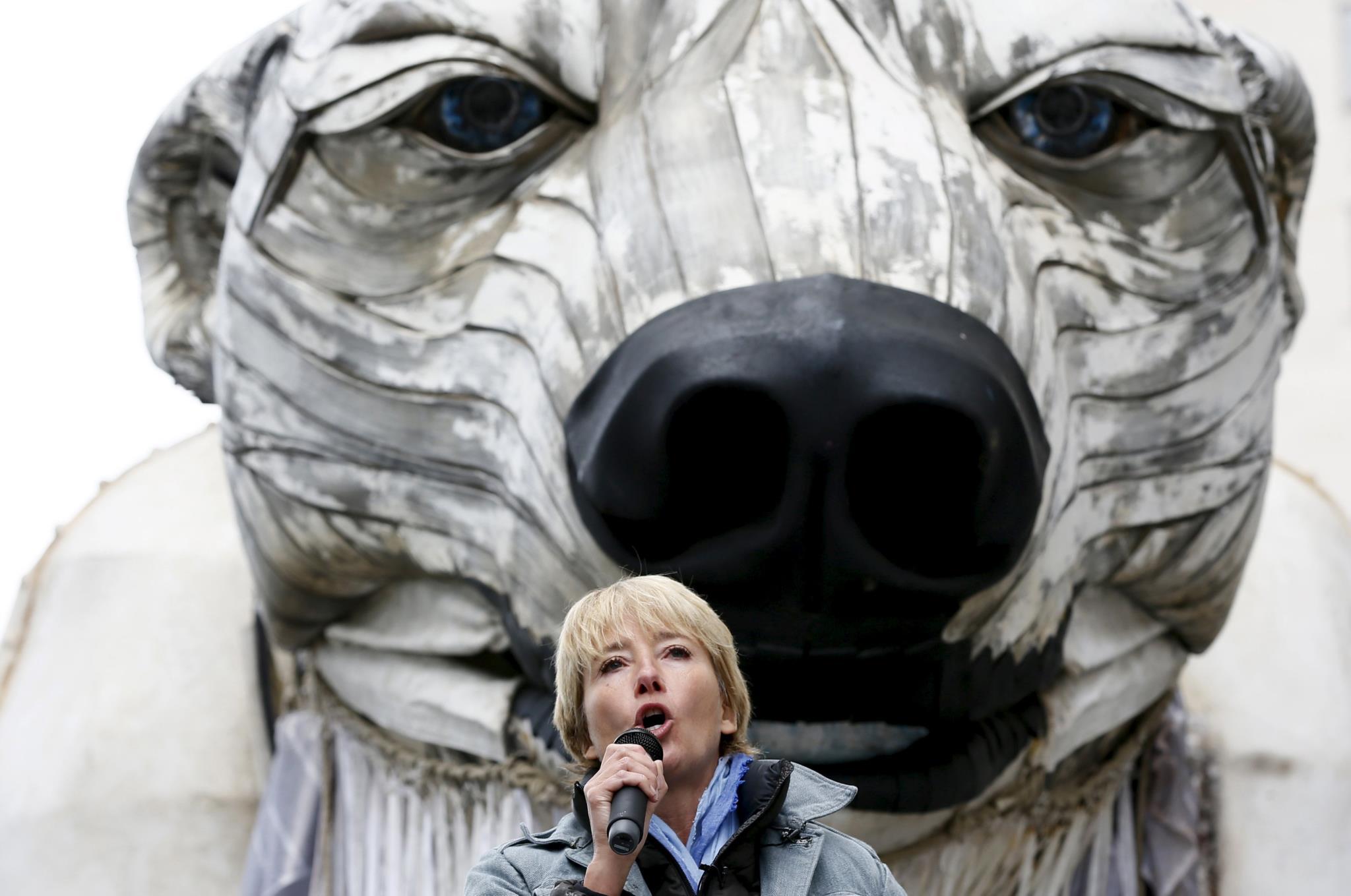 A actriz num protesto em defesa do ambiente, em Londres (foto de arquivo)