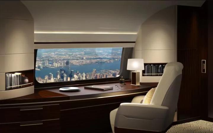 Boeing introduz uma janela com quase um metro e meio de largura