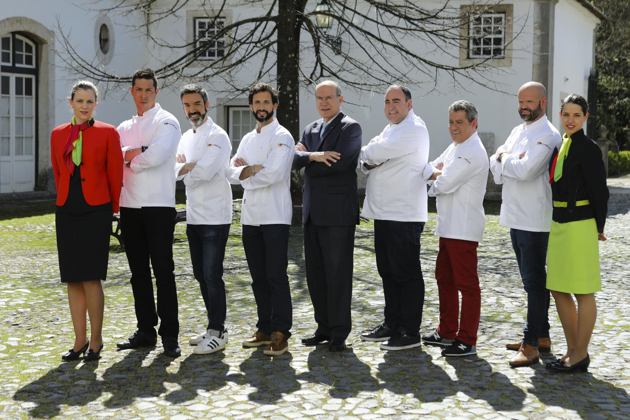 Da esquerda para a direita, Rui Silvestre, Henrique Sá Pessoa, José Alvillez, Fernando Pinto, Vítor Sobral, Rui Paula e Miguel Laffan