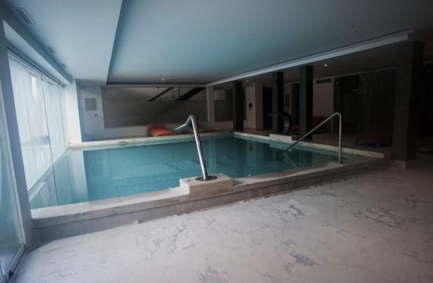 A piscina e o banho turco