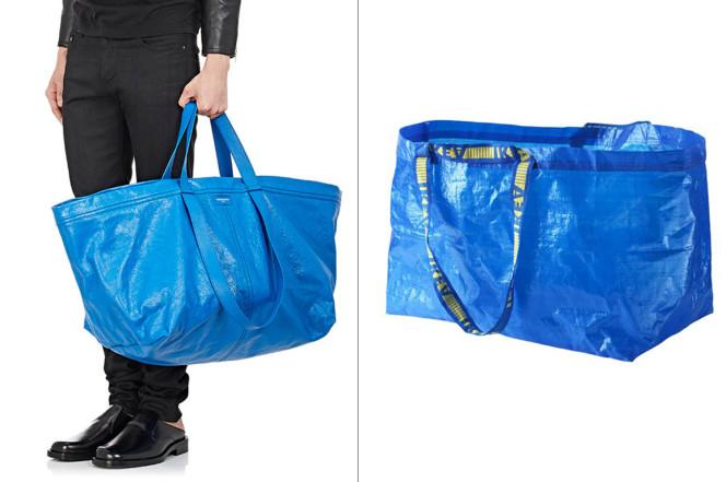 O saco azul da Balenciaga é um elogio à Ikea