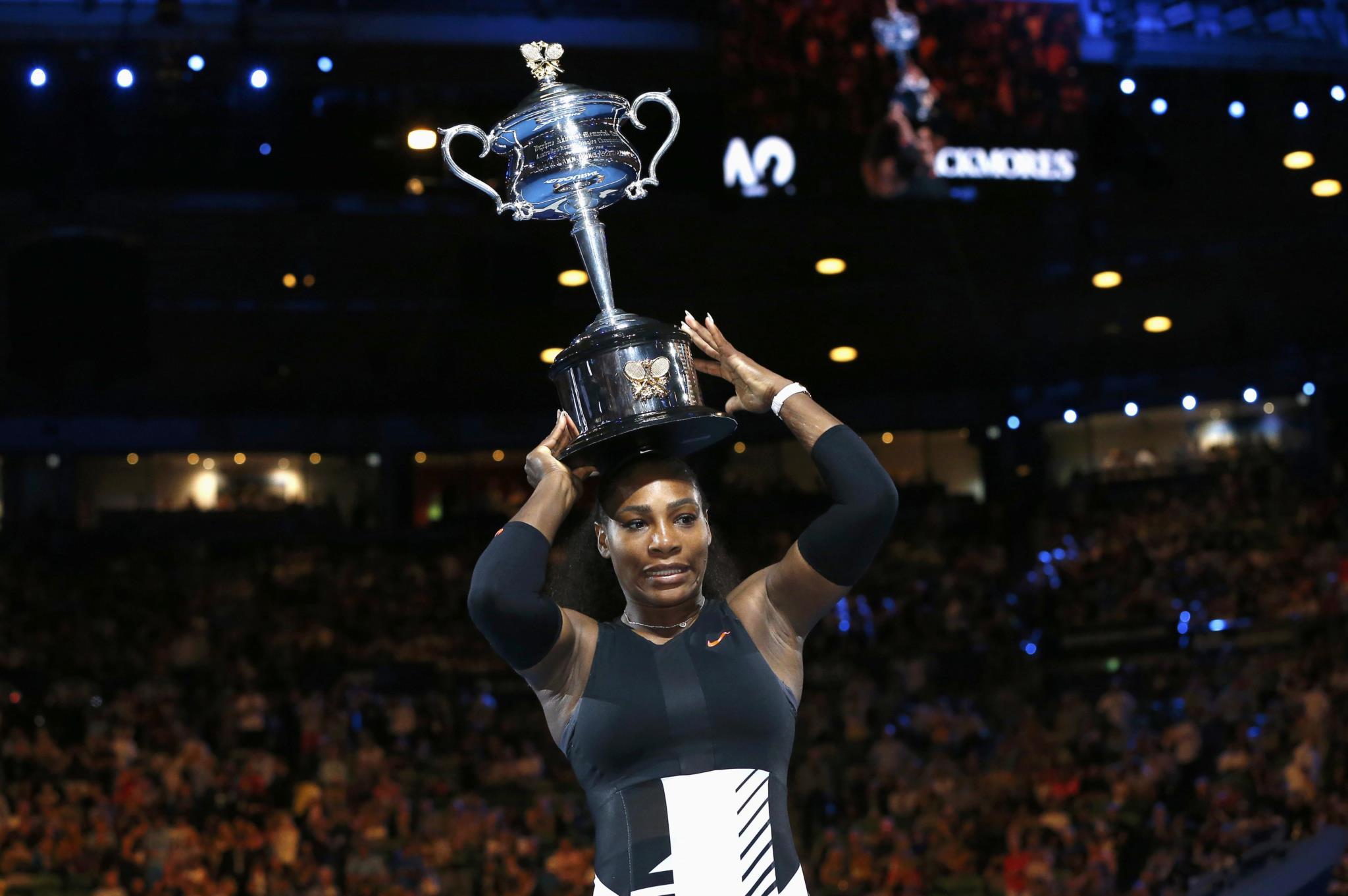 Serena Williams já estava grávida quando venceu o Australia Open contra a sua irmã, Venus, em Janeiro