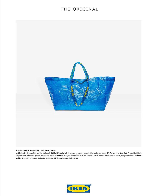 O anúncio ao saco do Ikea