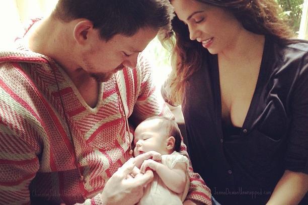 O casal com a filha, no Dia do Pai