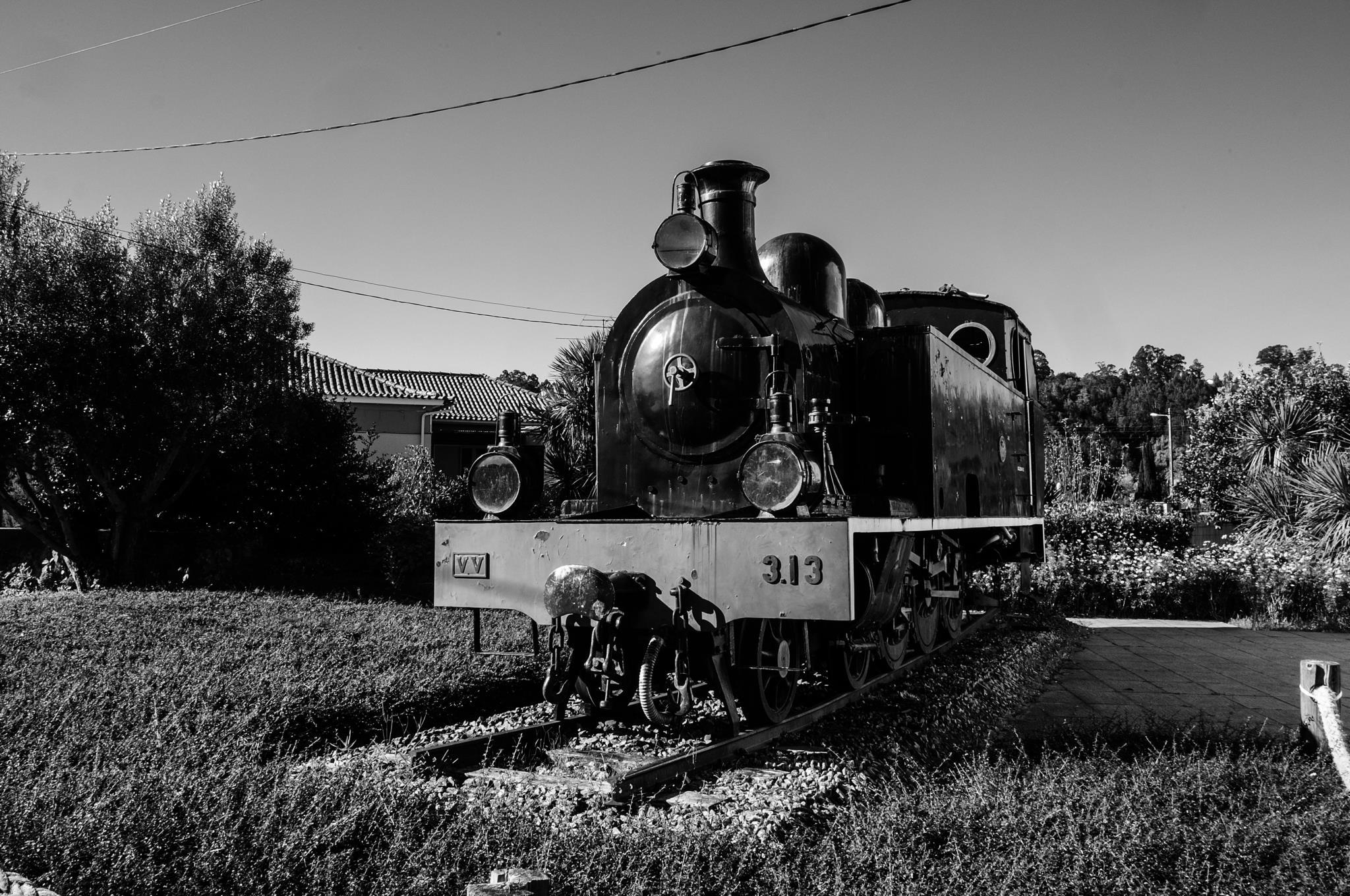Antiga locomotiva a vapor, Museu Ferroviário de Macinhata do Vouga