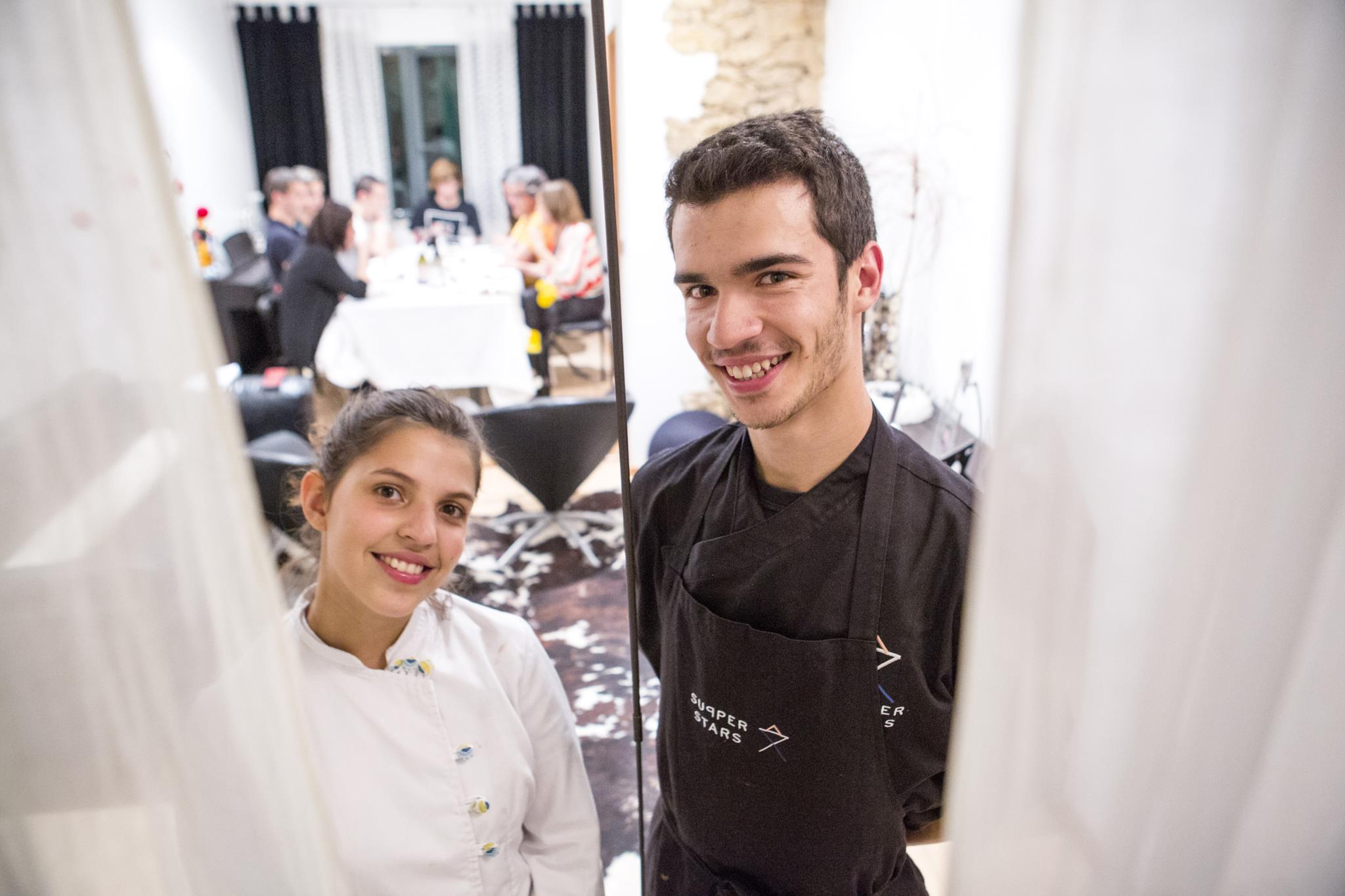 Vasco e Matilde, o cozinheiro e a pasteleira, 21 e 20 anos, de respectivamente