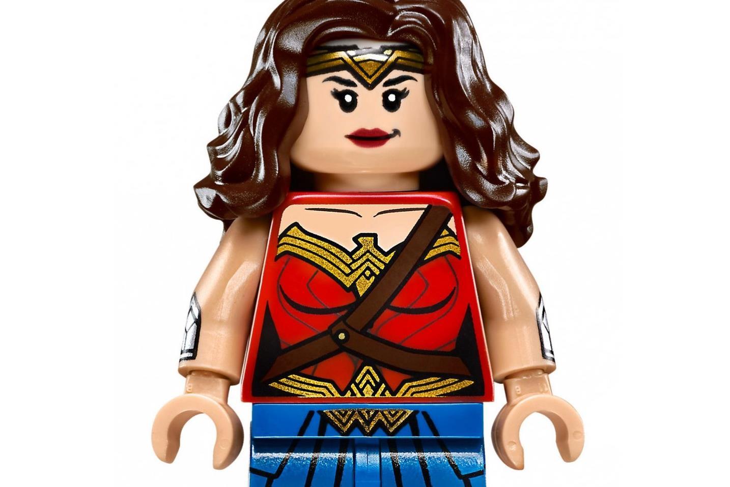 Figura de Mulher-Maravilha de uma caixa de Lego (29,99 euros)