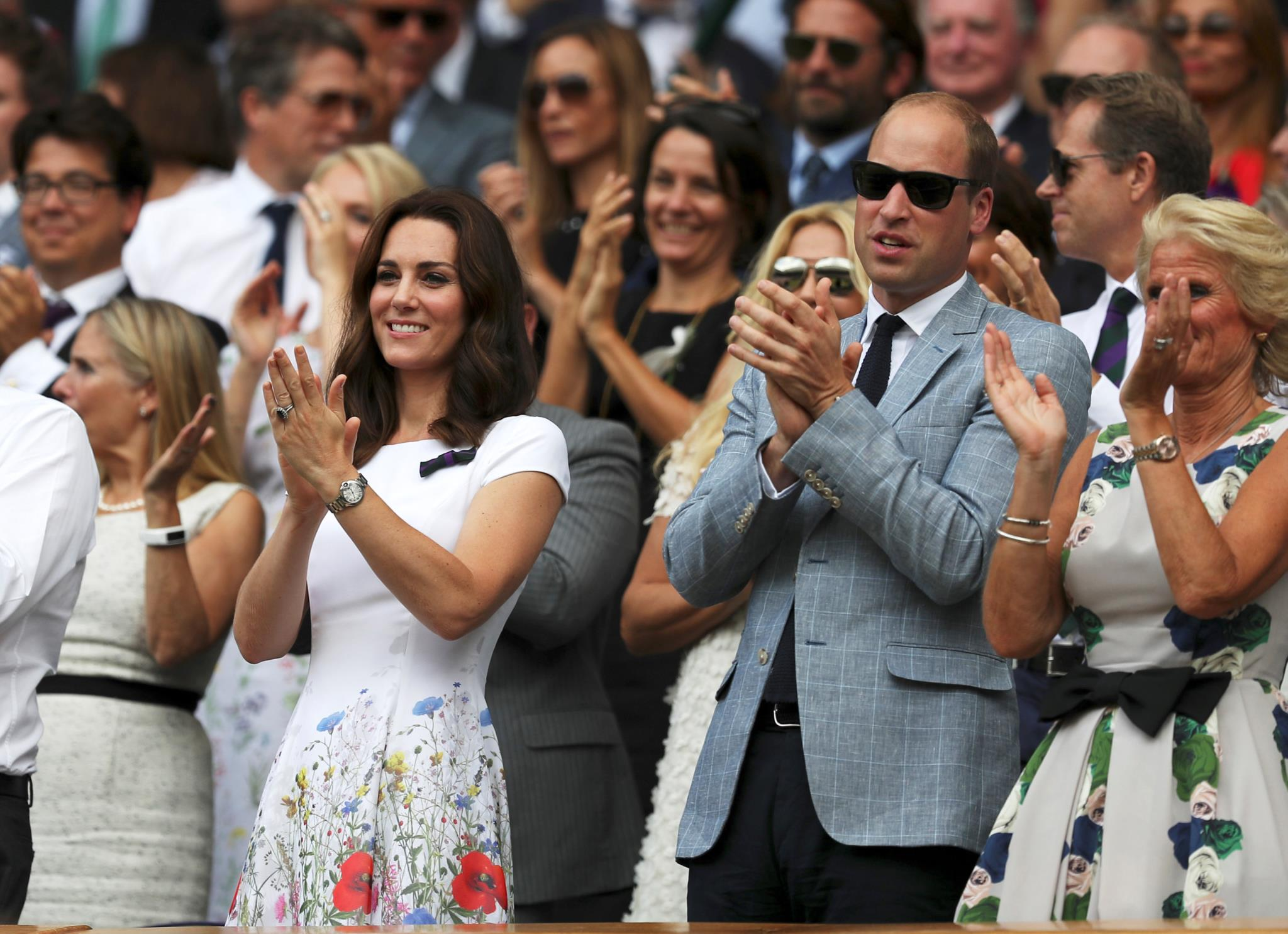 Kate e William estiveram na final de domingo, onde Roger Federer se sagrou campeão