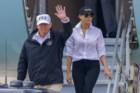 Trump mostra merchandise em Houston