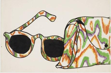 Ruy Leitão (1949-1976). Sem Título, sem data. Feltro e guache sobre papel. Museu Calouste Gulbenkian – Colecção Moderna