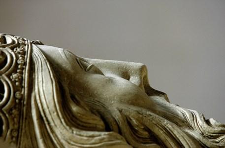Pormenor do túmulo de D. Pedro, no Mosteiro de Alcobaça