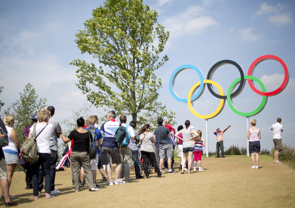 <p>No parque olímpico só se vendem produtos dos patrocinadores oficiais</p>