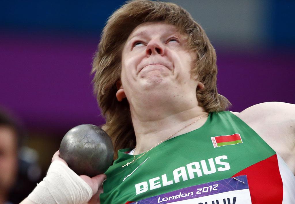 <p>A bielorrussa Nadzeya Ostapchuk é a primeira campeã de Londres a ser desqualificada</p>