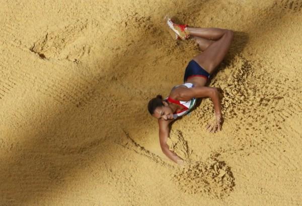 <p>Jessica Ennis (heptatlo) ganhou uma das 29 medalhas de ouro da Grã-Bretanha</p>